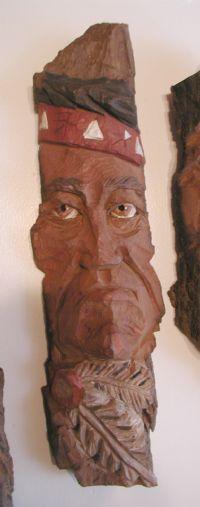 """Native Carving """"Brave"""" - 14"""""""