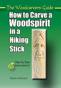 How to Carve a Woodspirits in a Hiking Stick
