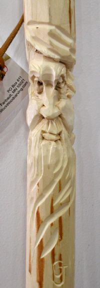 Hand-Carved Walking Stick by CJ Whillock